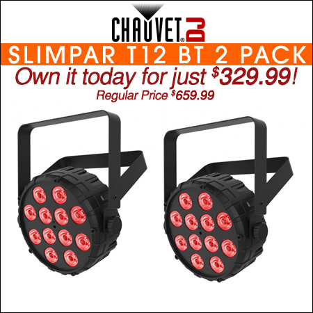 Chauvet SlimPAR T12 BT LED Par Wash w/ Bluetooth Two Pack