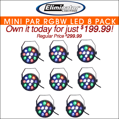 Eliminator Mini Par RGBW LED 8pc Pack
