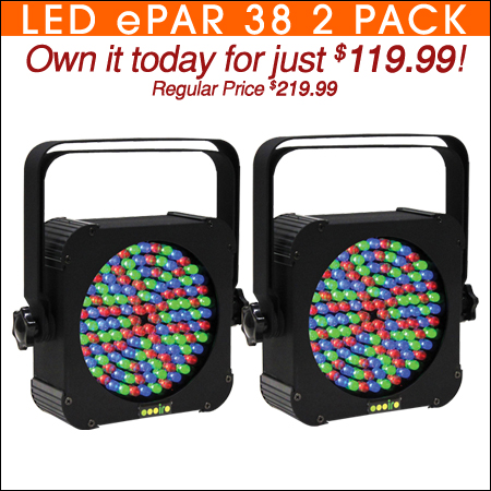 LED ePar 38 Two Pack