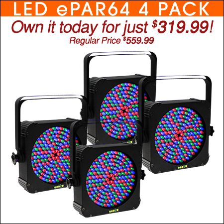 LED ePar 64 Four Pack