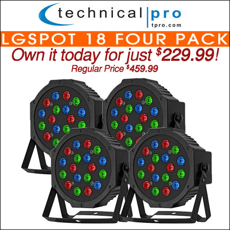 Technical Pro LGSpot 18 Four Pack