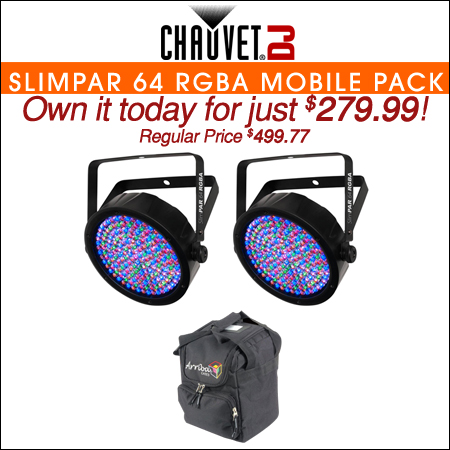 Chauvet SlimPar 64 RGBA Mobile Pack