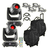 2 Chauvet DJ Intimidator Spot 375Z IRC Lights Packaged with Remote and Carry Bags