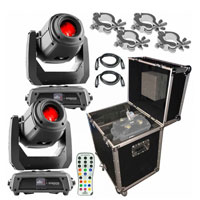 2 Chauvet DJ Intimidator Spot 375Z IRC Lights Packaged with Remote and Case