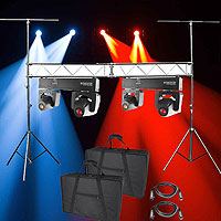Chauvet DJ Intimidator Spot Duo 155 Dual & Lighting Truss Pack