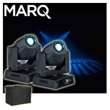 2 Marq Lighting Gesture Spot 300 & Case Package