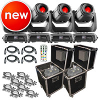 4 Chauvet DJ Intimidator Spot 375Z IRC Lights Packaged with Remote and Case