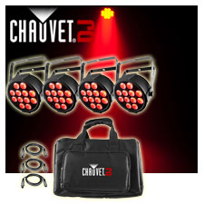 Chauvet DJ SlimPACK Q12 USB LED Uplight Package