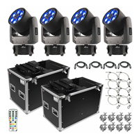 4 Chauvet DJ Intimidator Spot 375Z IRC Lights Packaged with Remote and Carry Bags