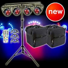 4 Chauvet DJ FXpar 3 Compact Effect Par Lights Package