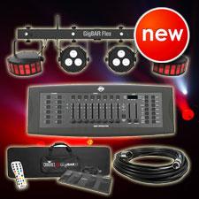 Chauvet DJ GigBar Flex System with American DJ DMX Controller Package