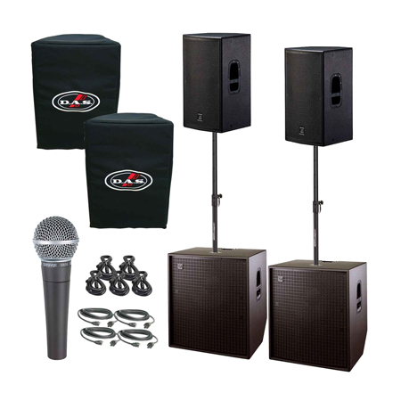 Das Action 15a 15 Quot Powered Speakers Amp 18 Quot Horn Bass