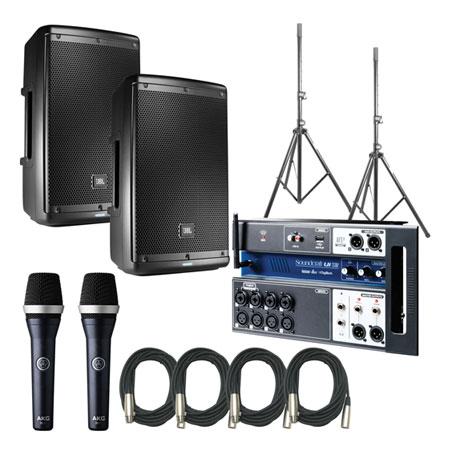 JBL EON610 Speakers w/ Soundcraft UI12 & AKD D5C