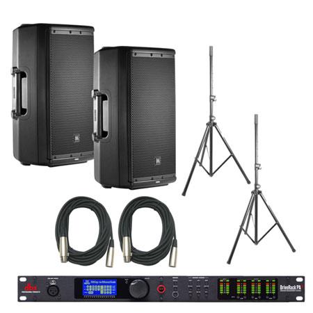 JBL EON612 Speakers & dbx DriveRack PA2 Bundle