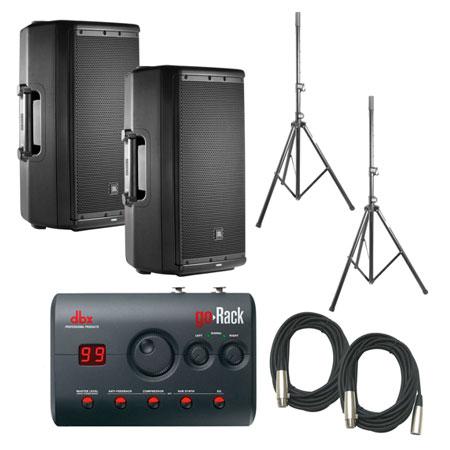 JBL EON612 Speakers & dbx GoRACK Processor Bundle