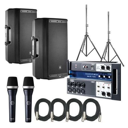 JBL EON612 Speakers w/ Soundcraft UI12 & AKD D5C
