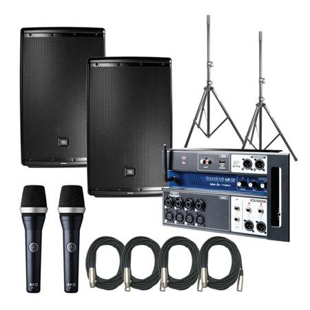 JBL EON615 Speakers w/ Soundcraft UI12 & AKD D5C
