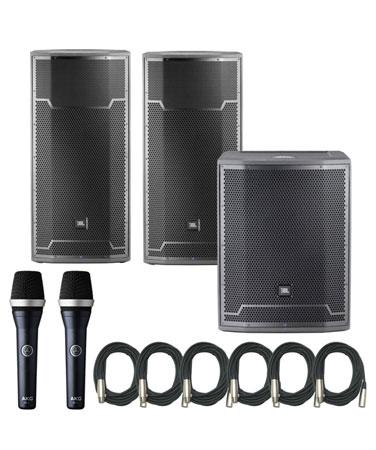 JBL SRX812P (2) & SRX818SP Powered Speaker Bundle