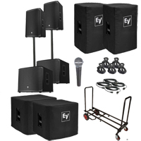 """Electro-Voice EKX-15P 15"""" Powered Speaker & 18"""" Subwoofer Duo Package"""