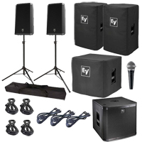 """Electro-Voice ZLX-12P 12"""" Powered Speaker & Subwoofer Package"""