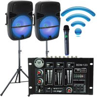 Rechargeable Bluetooth Wireless DJ System