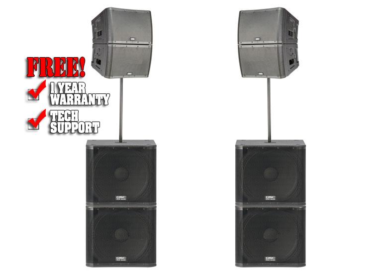 qsc line array package deal pa packages dj audio chicago dj equipment. Black Bedroom Furniture Sets. Home Design Ideas