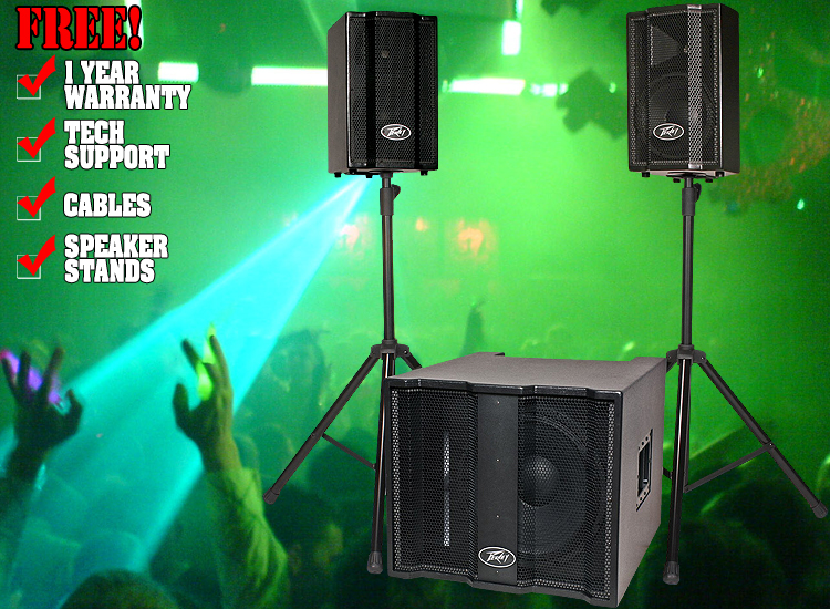 peavey triflex 2 system dj speakers dj audio chicago dj equipment 123dj. Black Bedroom Furniture Sets. Home Design Ideas