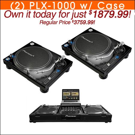 Pioneer PLX-1000 (2) + Odyssey FFXGSLBM12WBL