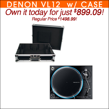 Denon VL12 Prime Direct Drive Turntable w/ Case