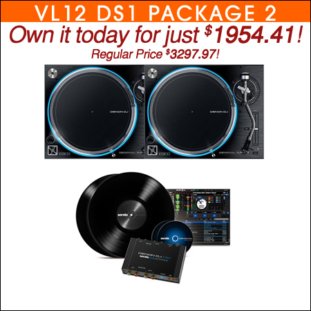 Denon VL12 Prime Turntables w/ DS1 Serato DJ DVS