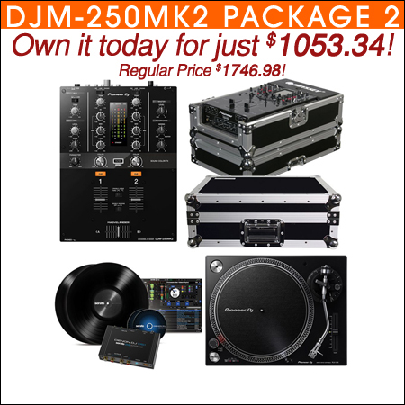 Pioneer DJM-250MK2 Mixer with PLX-500K Turntable & Pioneer DS1