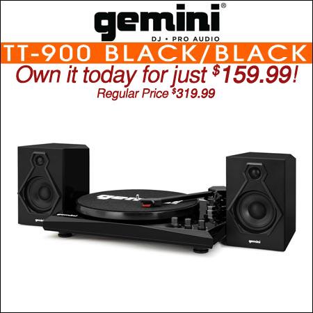Gemini TT-900 Stereo Turntable System Black/Black