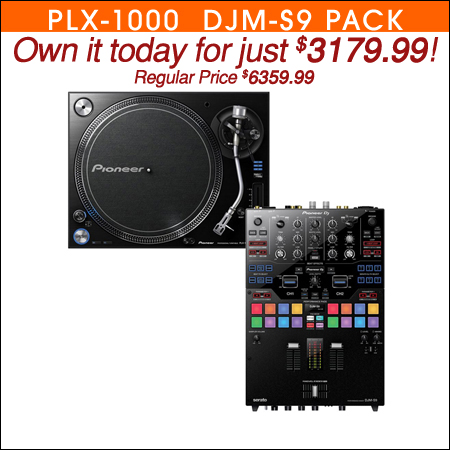 Pioneer PLX1000 Direct Drive Turntable with DJM-S9 Mixer