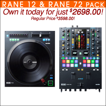 Rane Twelve Motorized DJ Turntable Controller & Seventy Two Performance Mixer