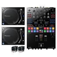 Pioneer DJM-S9 Mixer with (2) PLX1000 Turntables & M447 Cartridges
