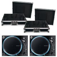 Denon VL12 Prime Direct Drive Turntables (2) w/ Cases