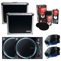 Denon VL12 Prime Turntables (2) w/ Cases & Accessories