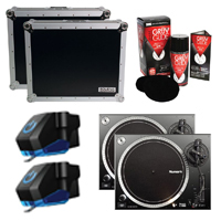 Numark NTX1000 Turntables w/ Cases & Accessories