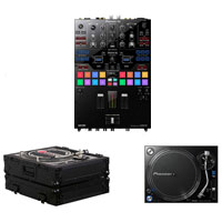Pioneer DJM-S9 Serato Mixer + 2 PLX-1000 Turntable bundle with FREE Flight Cases