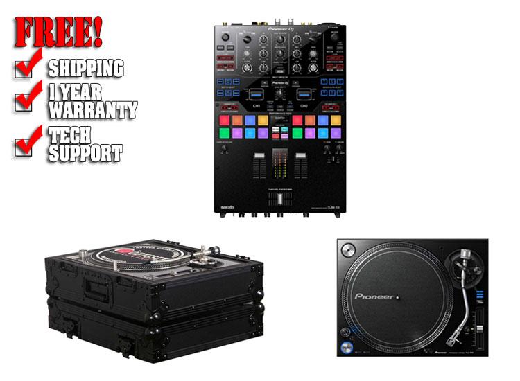 Pioneer DJM-S9 Serato Mixer + 2 PLX-1000 Turntable bundle