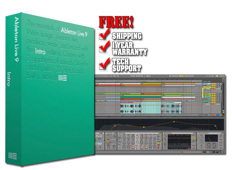 ableton live 9 intro production software chicago dj equipment 123dj. Black Bedroom Furniture Sets. Home Design Ideas