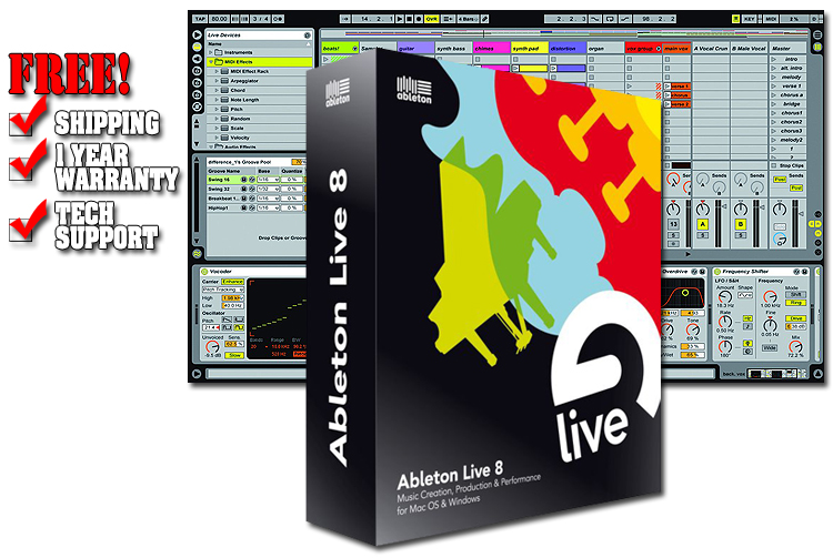 ableton live 8 upgrade from lite studio software production software chicago dj equipment. Black Bedroom Furniture Sets. Home Design Ideas