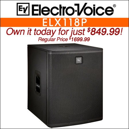 Electro Voice ELX118P DJ Powered Subwoofer