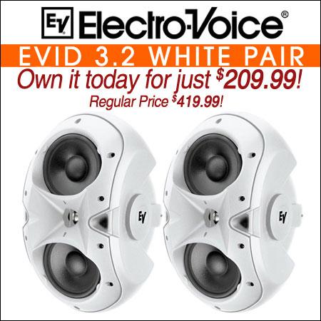 Electro Voice EVID 3.2 White Pair
