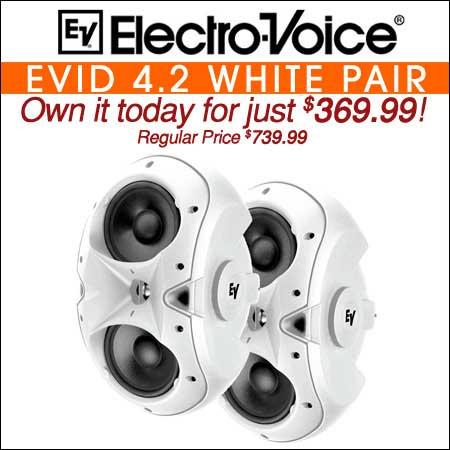 Electro Voice EVID 4.2 White Pair