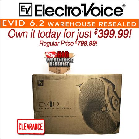 Electro Voice EVID 6.2 Warehouse Resealed