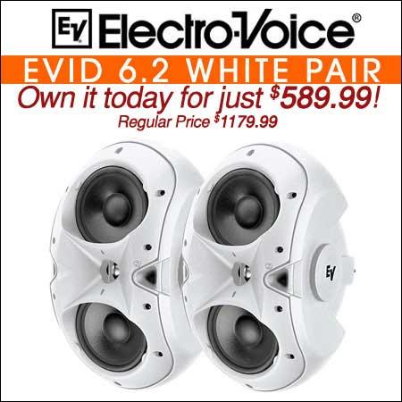 Electro Voice EVID 6.2 White Pair