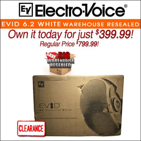 Electro Voice EVID 6.2 White Warehouse Resealed
