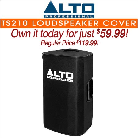 Alto Padded Slip-On Cover for TS210 Loudspeaker