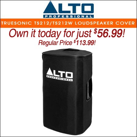Alto Padded Slip-On Cover for Truesonic TS212 / TS212W Loudspeaker